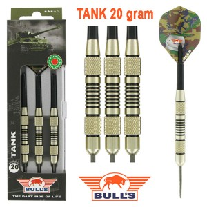 BULL'S TANK Nickel Silver dartpijlen 20 - 22 gram