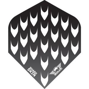 BULL'S sharkskin effen flight zwart