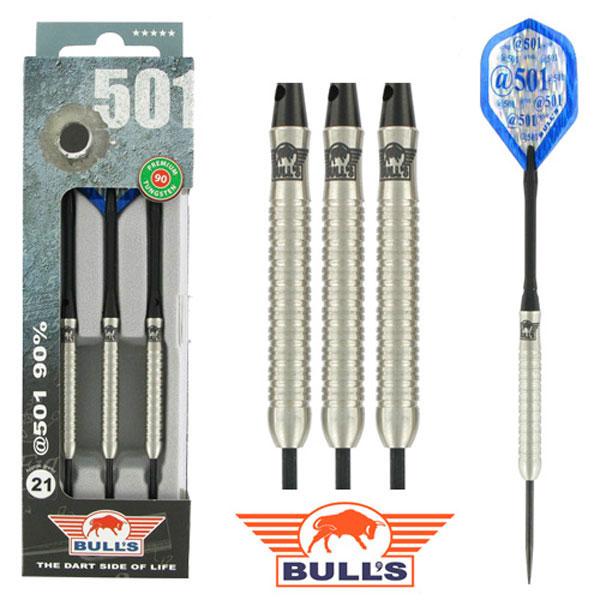 BULL'S @501 90% Tungsten dartpijlen Blauw 23 - 25 gram