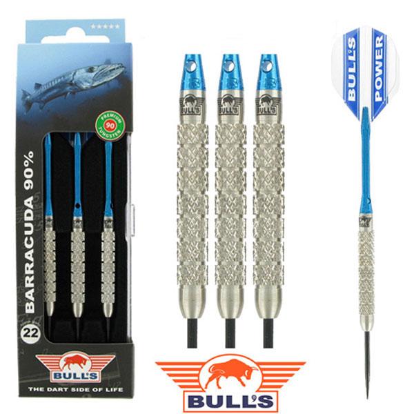 BULL'S BARRACUDA 90% Tungsten dartpijlen Blauw 24 - 26 gram