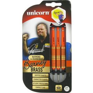 Unicorn Barney Brass oranje dartpijlen 25 gram