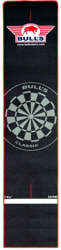 Carpet Dartmat 240x65 cm - Zwart/Rood