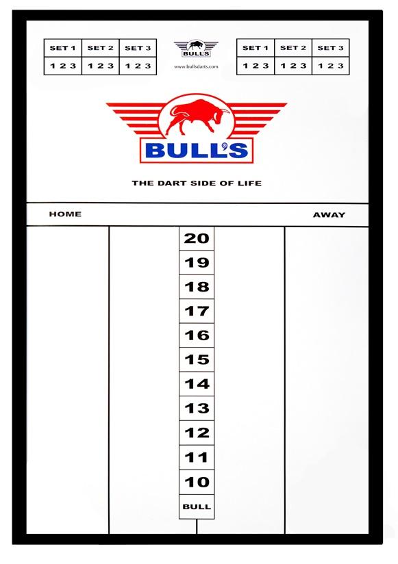 BULL'S Styreen Scoreboard - 45 x 30cm