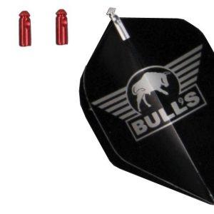 BULL'S Flightprotectors Aluminium - Rood