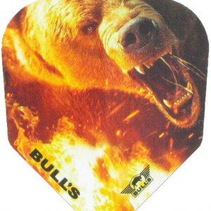 """BULL'S Powerflite Solid Bear Flights: Deze stoere flights van het merk BULL's zijn bedrukt met de afbeelding van een beer. De flight heeft een """"standaard 6"""" vorm en is"""