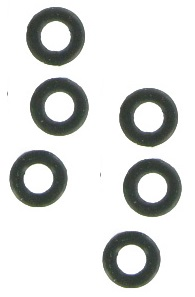 O-rings rubber per 6 stuks