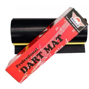 BULL'S Dartmat Rubber + Lijn 300x60 cm - Zwart
